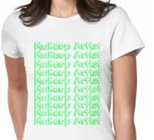 MUA Repeat - Green  Womens Fitted T-Shirt