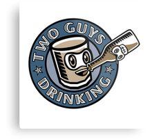 Two Guys Drinking Logo Metal Print