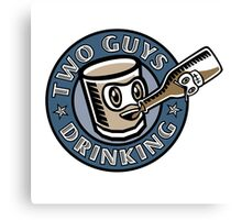 Two Guys Drinking Logo Canvas Print