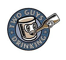 Two Guys Drinking Logo Photographic Print