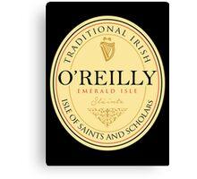 Irish Names O'Reilly Canvas Print
