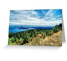 Gulf Island View (painted) Greeting Card