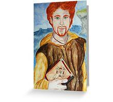 Saint Comgall of Bangor Greeting Card
