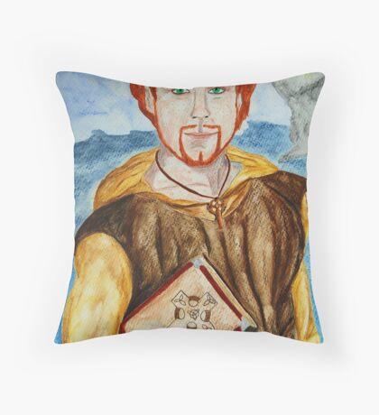Saint Comgall of Bangor Throw Pillow