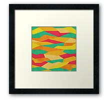 Retro,graphic,design,fall colors,70's,vintage,trendy,pattern Framed Print