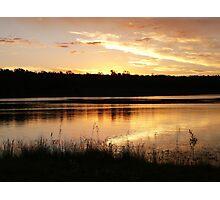 Twilight over Lake Boondooma Photographic Print