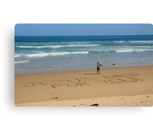 Jesus Died for You! - Great Ocean Road Australia Canvas Print