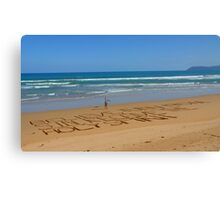 Believe Jesus! - HDR - Great Ocean Road Australia Canvas Print