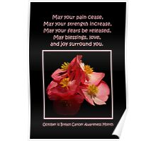 October Is Breast Cancer Awareness Month Poster