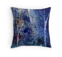 Blue Rainforest Delux Throw Pillow