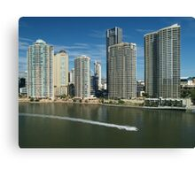 Brisbane: city and river Canvas Print