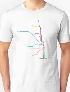 "Chicago ""L"" Map T-Shirt"
