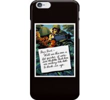 Soldier's Letter Home To Dad -- WW2 iPhone Case/Skin