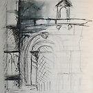 Portail Sud de l'Eglise de Montrésor by Claire Elford