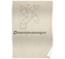 Measurement With Compass Line Leveling Albrecht Dürer or Durer 1525 0151 Repeating and Folding Shapes Poster
