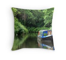 Barge on the Kennet and Avon Canal, Bath Throw Pillow