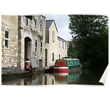 Houses at Bathwick, Bath, from the Kennet & Avon canal Poster