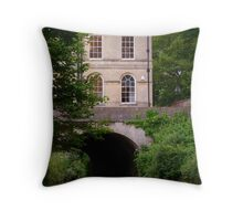 Building on a bridge over the Kennet and Avon canal, Bath Throw Pillow