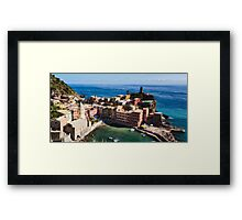 Vernazza, Cinque Terre, Liguria, Italy Framed Print