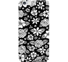 Black Floral iPhone Case/Skin