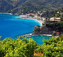 Ligurian Coastline at Monterosso by George Oze