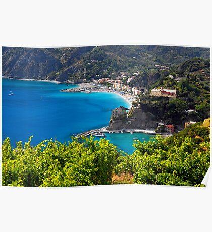 Ligurian Coastline at Monterosso Poster