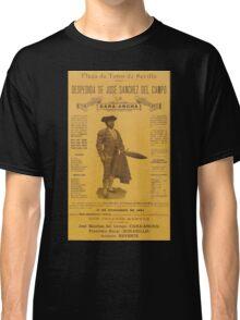 Poster 1890s Cartel despedida caraancha Classic T-Shirt