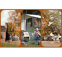 Dey Mansion Re-enactment Day Triptych Photographic Print