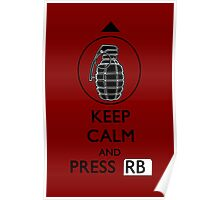Keep Calm and Press RB Poster