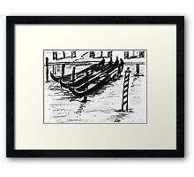 The Italian Gondola  Framed Print