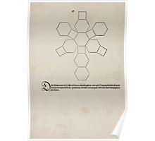 Measurement With Compass Line Leveling Albrecht Dürer or Durer 1525 0152 Repeating and Folding Shapes Poster
