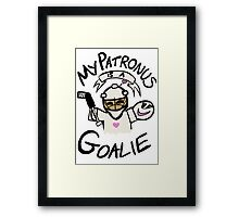 My Patronus is a Goalie Framed Print