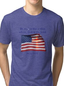 Blessed is the nation Tri-blend T-Shirt