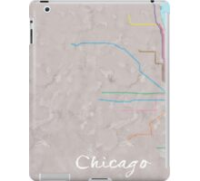 Watercolor Chicago L map iPad Case/Skin