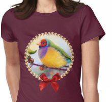 Gouldian finch realistic painting Womens Fitted T-Shirt