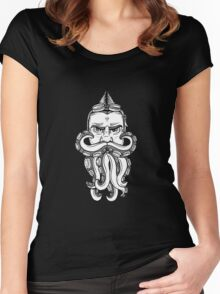 Steampunk Octobeard Women's Fitted Scoop T-Shirt