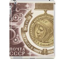 Cosmonautics Day series The Soviet Union 1971 CPA 3992 stamp Yuri Gagarin Medal Spaceships and Planets cancelled USSR iPad Case/Skin