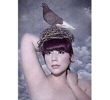 Mrs. Pigeon and me Photographic Print