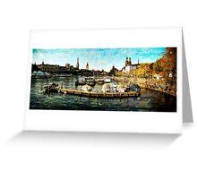 Zurich Autumn afternoon Greeting Card