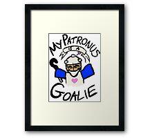 My Patronus is a Goalie (Field Hockey Edition) Framed Print