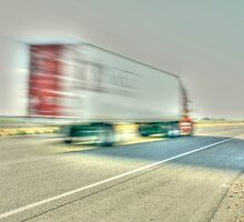 Speeding truck blur by gregorydean