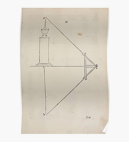Measurement With Compass Line Leveling Albrecht Dürer or Durer 1525 0107 Repeating Shapes Poster