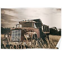Old Dump Truck Poster