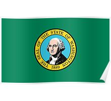 State Flags of the United States of America -  Washington Poster