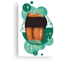 Thunder and Lightning Thighs! Canvas Print