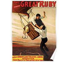 Poster 1890s The great ruby Broadway poster 1899 Poster