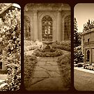 The Van Vleck House and Gardens Triptych by Jane Neill-Hancock