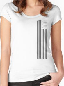 America in black and white Women's Fitted Scoop T-Shirt