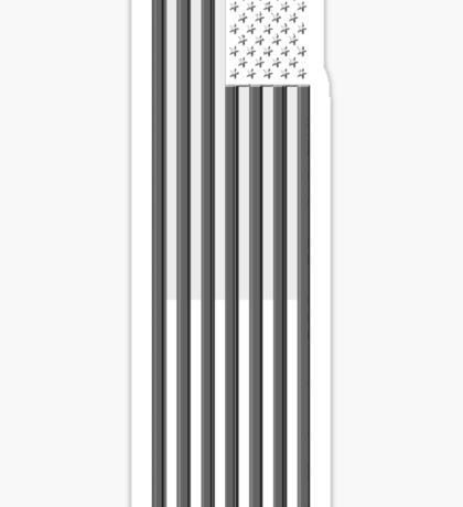 America in black and white Sticker