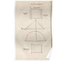 Famous Painter Parts Human Body Symmetry Four Books Geomety 1557 Albrecht Durer 0162 Basic Shapes Poster